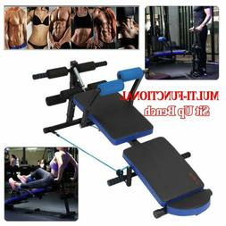 3-in-1 Push Up Ab Workout Home Gym Sit Up Folding Height Adj