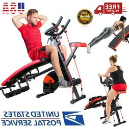 Ab Abdominal Arm Trainers Sit-up Bench Leg Exercise Bike Wor