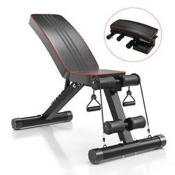 Abdominal Workout Bench Folding Ab Weight Bench Fitness Incl