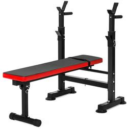 Adjustable Barbell Rack and Weight Bench WORKOUT training gy