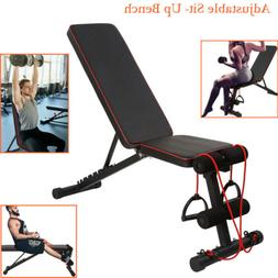Adjustable Bench Chair Press Flat Incline Fly Weight Workout