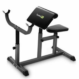 Goplus Adjustable Commercial Preacher Arm Curl Weight Bench