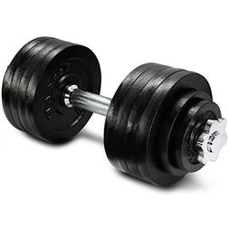 Yes4All 52.5 lb Adjustable Weight Dumbbells for Gym Fitness