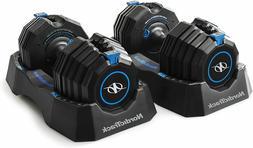 ORIGINAL Adjustable Dumbbells Pair Weight Increments 10-55 l