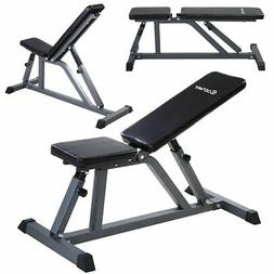 Costway Adjustable Folding Sit Up AB Incline Abs Bench Flat