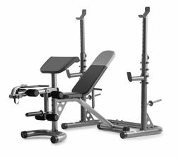 ADJUSTABLE LIFTING WEIGHT BENCH With Squat Rack Workout Leg