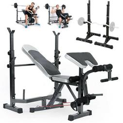 Weight Bench Set With Weight Home Gym Bench Press Lifting Ba