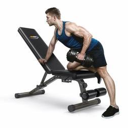 FEIERDUN Adjustable Weight Bench Flat Incline&Decline Workou