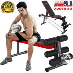 Adjustable Weight Bench Flat Incline/Decline Barbell Lifting