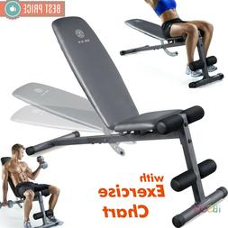 Adidas Performance Flat Training Bench New Weight Benches Gym Workout Exercise