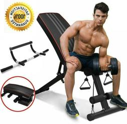 Adjustable Weight Bench Flat Incline Decline Home Fitness Gy