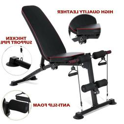 Adjustable Weight Bench Flat/Incline/Decline Sit Up Lifting