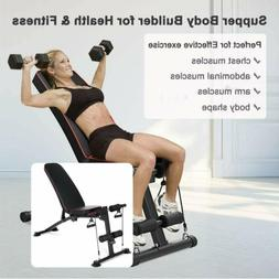 Adjustable Weight Bench Incline Decline Folding Full Body Wo