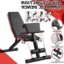 Adjustable Weight Bench Press Flat Incline Decline Lifting G