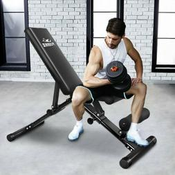 FLYBIRD Adjustable Weight Bench Press Flat Incline Lifting F