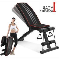 Adjustable Weight Bench - Press Incline Decline Workout Fitn