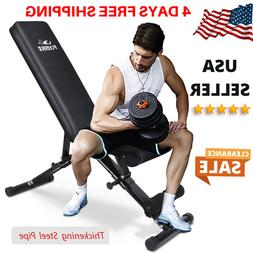 FLYBIRD Adjustable Weight Bench Utility Gym Bench Full Body