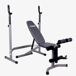 AUTHENTIC  Body Champ Olympic Weight Bench With Leg Extensio