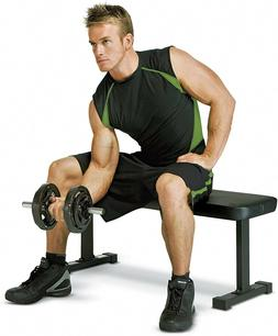 Black Flat Utility 600 lbs Capacity Weight Bench for Trainin