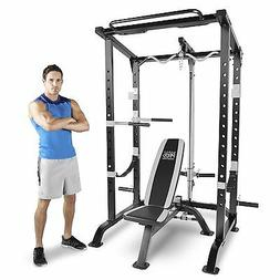 Marcy Pro Full Cage and Weight Bench Personal Home Gym Total