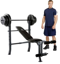 Marcy CB20111 Standard Adjustable Weight Bench w/ 100lb Viny