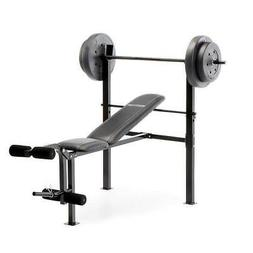 Competitor Pro Home Gym Standard Adjustable Weight Bench wit