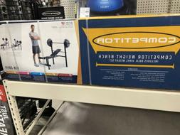 Marcy Competitor Standard Workout Bench with 80 lbs Vinyl-Co