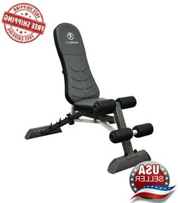deluxe foldable utility bench gym equipment adjustable