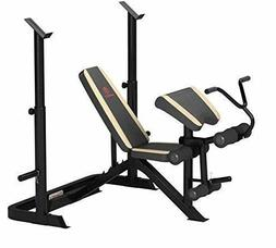 Marcy Adjustable Olympic Weight Bench with Leg Developer and