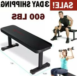 Marcy Flat Weight Bench Utility 600 lbs Capacity Fitness Wei