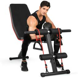 Foldable Adjustable Weight Bench Incline Decline Full Body T