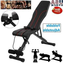 Foldable Weight Bench Adjustable Incline Decline Workout Fit