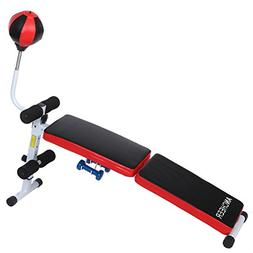 Ancheer Fully Adjustable Folding Gym Weight Bench Fitness Du