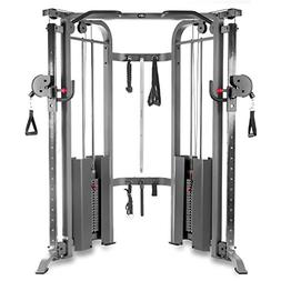 XMark Functional Trainer Cable Machine with Dual 200 lb Weig
