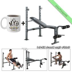 Gold Gym Weight Bench XR 6.1 Workout Equipment Adjustable Go