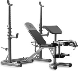 Gold's Gym XRS 20 Adjustable Olympic Workout Bench with Squa