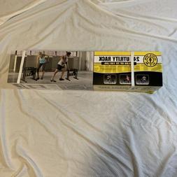 "Golds Gym 24"" Steel Utility Rack Stand for Dumbbells Kettle"