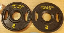 Golds Gym 5 lb 2 Inch Olympic 2 Plates - 5lb Plate Weight Tr