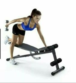 Weider Golds Gym Adjustable Slant Incline  Workout Weight Be