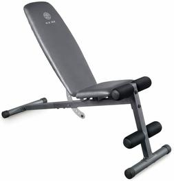 Golds Gym Weight Bench Flat Incline Decline Strength Trainin