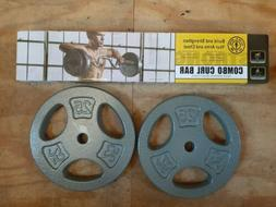 Golds Gym Weight Lifting Combo Curl Bar Barbell with 50 Lb i