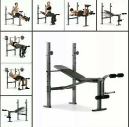 Weider Golds Gym XR 6.1 Weight Bench Press with Leg Develope
