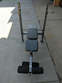 Golds Gym XR 6.1 Weight Bench w/Leg Lift Gray Used