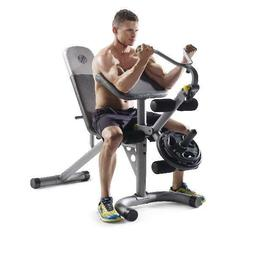 Golds Gym XRS 20 Olympic Workout Bench with Removable Preach