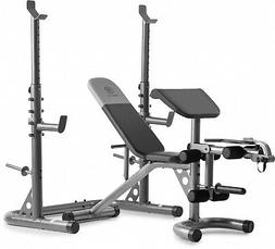 Golds Gym XRS20 Olympic Workout Weight Bench Squat Rack Pres