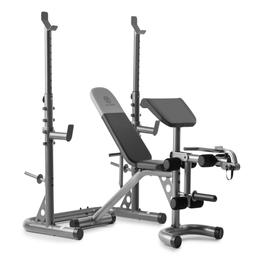Golds Gym XRS20 with Squat Rack Weight Lifting Bench Press E