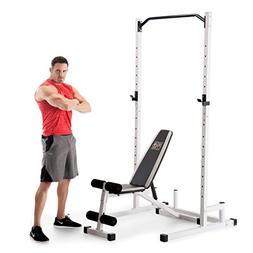Marcy Home Gym Workout Fitness Exercise Power Cage and Weigh
