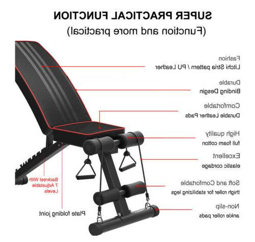 Adjustable AB Incline Abs Fly Press Black