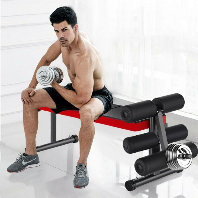 Adjustable Weight Workout Home Bench Barbell Flat Incline De