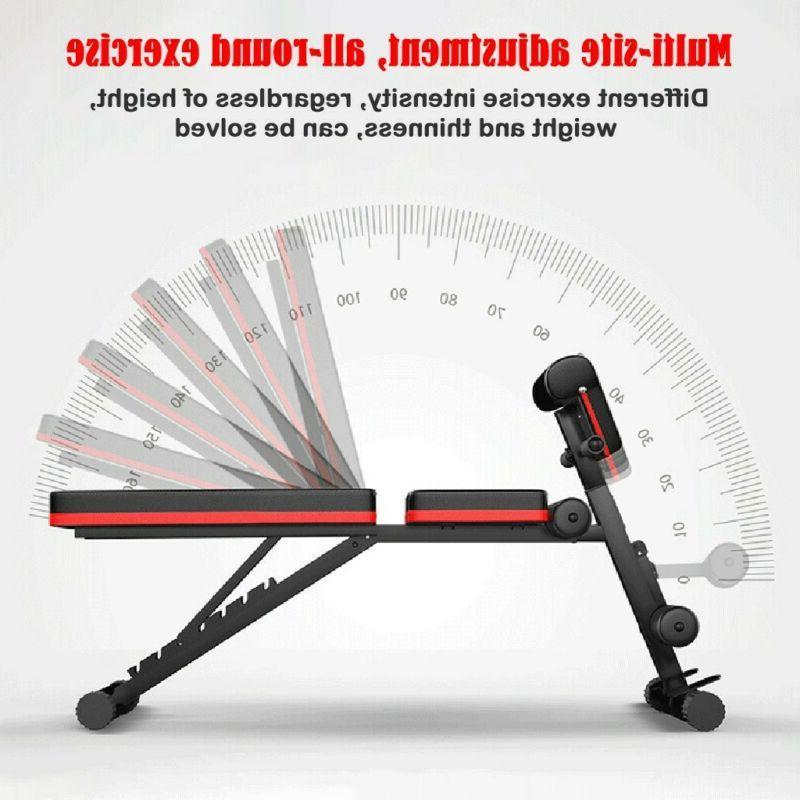 Adjustable Decline Incline Gym Weight Bench Sit UP Fid